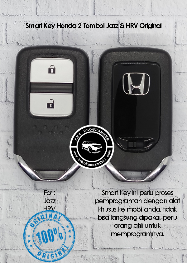 Honda smart key 2 tombol Jazz HRV Original